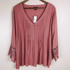 Simply Emma Faded Rose Blouse
